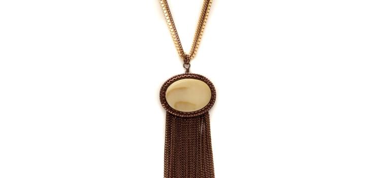 Sybil Shell Tassel Pendant Necklace