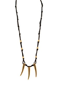 Helena Long Leather Necklace