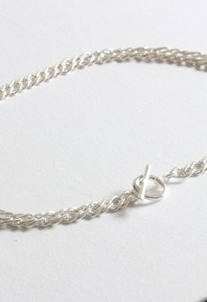 Marcella Plated Statement Chain T-Bar Necklace