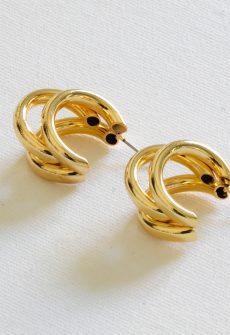 Gisele Turbular Plated Brass Earrings
